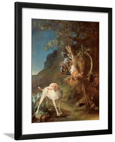 Dog and Game, 1730-Jean-Baptiste Simeon Chardin-Framed Art Print