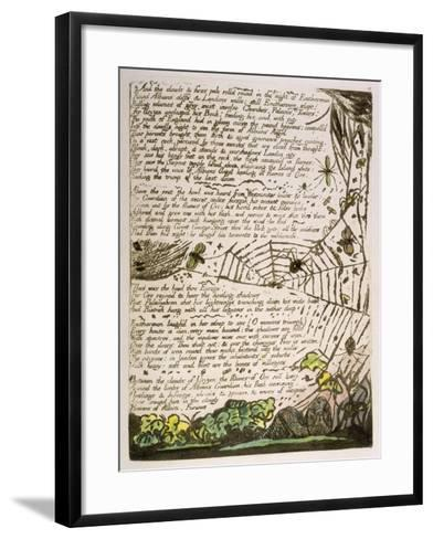 And the Clouds and Fires...', Plate 14 from 'Europe. a Prophecy', 1794-William Blake-Framed Art Print
