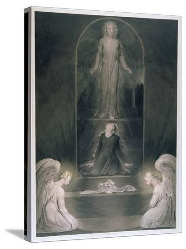Mary Magdalene at the Sepulchre, C.1805 (W/C and Pen and Black Ink on Paper)-William Blake-Stretched Canvas Print