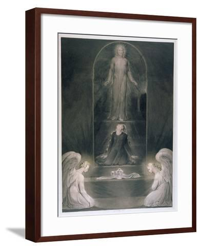 Mary Magdalene at the Sepulchre, C.1805 (W/C and Pen and Black Ink on Paper)-William Blake-Framed Art Print