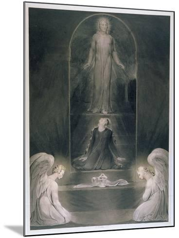 Mary Magdalene at the Sepulchre, C.1805 (W/C and Pen and Black Ink on Paper)-William Blake-Mounted Giclee Print