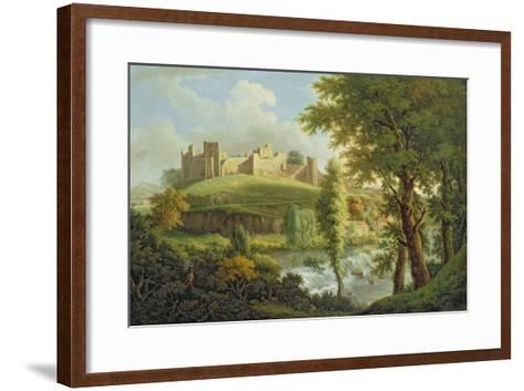 Ludlow Castle with Dinham Weir, from the South-West, c.1765-69-Samuel Scott-Framed Art Print