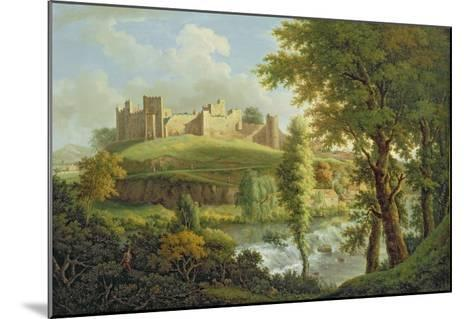 Ludlow Castle with Dinham Weir, from the South-West, c.1765-69-Samuel Scott-Mounted Giclee Print