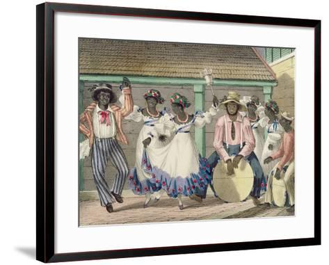 French Set-Girls, Plate 7 from 'sketches of Character...', 1838 (Colour Litho)-Isaac Mendes Belisario-Framed Art Print