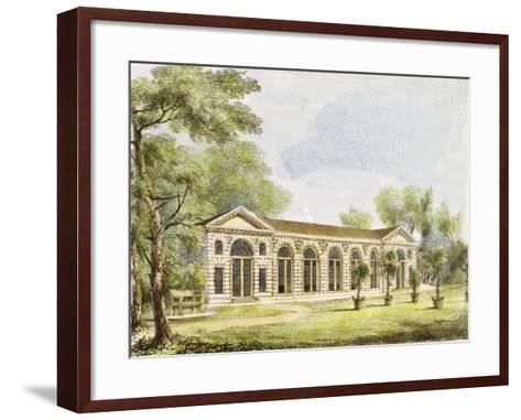 Orangery, Kew Gardens, Plate 11 from 'Kew Gardens: a Series of Twenty-Four Drawings on Stone'-George Ernest Papendiek-Framed Art Print