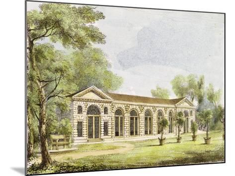 Orangery, Kew Gardens, Plate 11 from 'Kew Gardens: a Series of Twenty-Four Drawings on Stone'-George Ernest Papendiek-Mounted Giclee Print