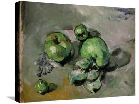 Green Apples, c.1872-73-Paul C?zanne-Stretched Canvas Print