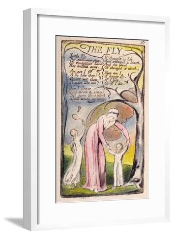 The Fly', Plate 37 from 'Songs of Innocence and of Experience' [Bentley 40] C.1789-94-William Blake-Framed Art Print