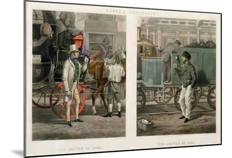 Fore's Contrasts: the Driver of 1832, the Driver of 1852, Engraved by John Harris (1811-65) 1852-Henry Thomas Alken-Mounted Giclee Print