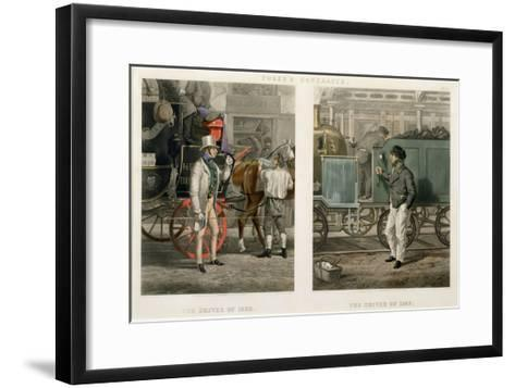 Fore's Contrasts: the Driver of 1832, the Driver of 1852, Engraved by John Harris (1811-65) 1852-Henry Thomas Alken-Framed Art Print
