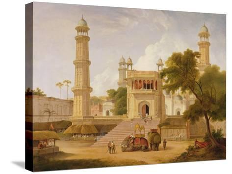Indian Temple, Said to Be the Mosque of Abo-Ul-Nabi, Muttra, 1827-Thomas Daniell-Stretched Canvas Print
