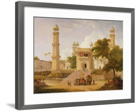 Indian Temple, Said to Be the Mosque of Abo-Ul-Nabi, Muttra, 1827-Thomas Daniell-Framed Art Print