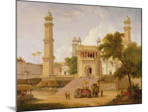 Indian Temple, Said to Be the Mosque of Abo-Ul-Nabi, Muttra, 1827-Thomas Daniell-Mounted Giclee Print