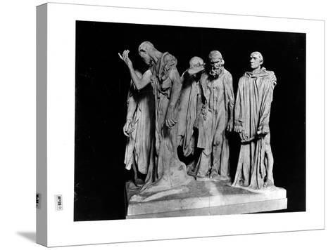 The Burghers of Calais, 1889 (Plaster) (B/W Photo)-Auguste Rodin-Stretched Canvas Print
