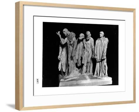 The Burghers of Calais, 1889 (Plaster) (B/W Photo)-Auguste Rodin-Framed Art Print