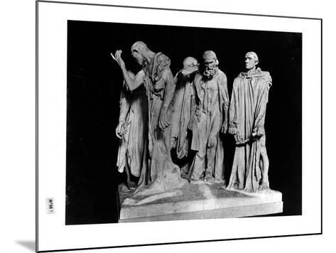 The Burghers of Calais, 1889 (Plaster) (B/W Photo)-Auguste Rodin-Mounted Giclee Print
