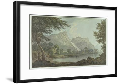 Lodore Rocks - Fall and Cottage Distance (Pen and Ink with W/C over Graphite on Wove Paper)-Joseph Farington-Framed Art Print
