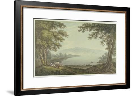 Skiddaw and Derwent Water (Pen and Ink with W/C over Graphite on Wove Paper)-Joseph Farington-Framed Art Print