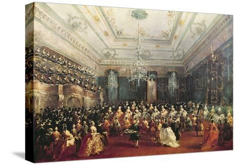 Gala Concert Given in January 1782 in Venice for the Tsarevich Paul of Russia and His Wife-Francesco Guardi-Stretched Canvas Print