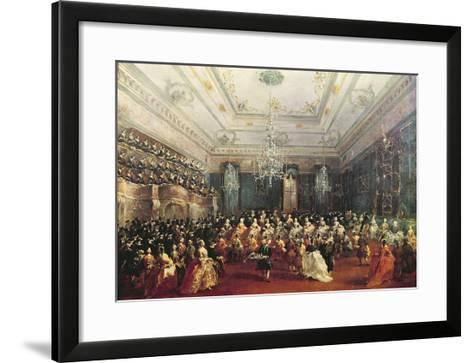 Gala Concert Given in January 1782 in Venice for the Tsarevich Paul of Russia and His Wife-Francesco Guardi-Framed Art Print