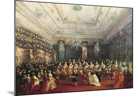 Gala Concert Given in January 1782 in Venice for the Tsarevich Paul of Russia and His Wife-Francesco Guardi-Mounted Giclee Print