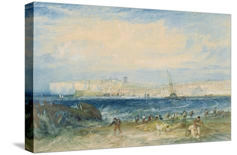 Margate, C.1822 (W/C and Scraping Out on Wove Paper)-J^ M^ W^ Turner-Stretched Canvas Print