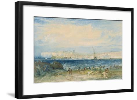 Margate, C.1822 (W/C and Scraping Out on Wove Paper)-J^ M^ W^ Turner-Framed Art Print