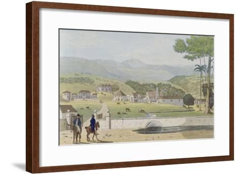 Montpelier Estates, St James, from 'A Picturesque Tour of the Island of Jamaica'-James Hakewill-Framed Art Print
