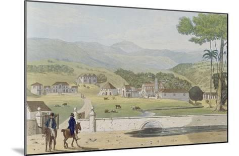 Montpelier Estates, St James, from 'A Picturesque Tour of the Island of Jamaica'-James Hakewill-Mounted Giclee Print