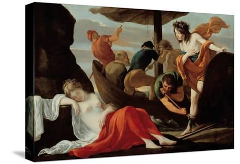 Bacchus Discovering Ariadne on Naxos-Louis Le Nain-Stretched Canvas Print