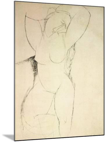 Caryatid, C.1913-14 (Pen and Ink on Paper)-Amedeo Modigliani-Mounted Giclee Print