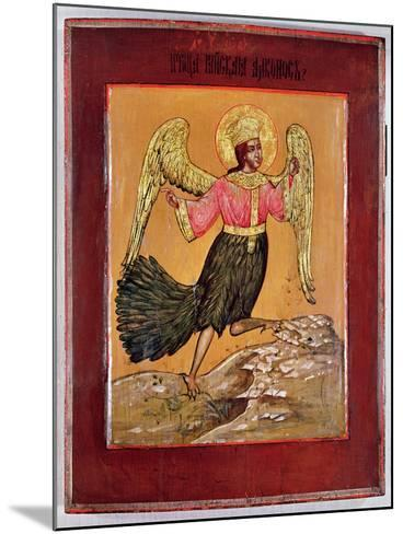 Icon Depicting the Bird of Paradise (Oil on Panel)-Russian-Mounted Giclee Print