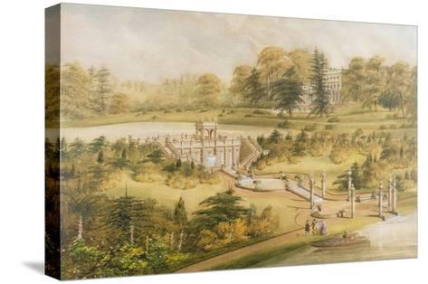 Design for Cowley Manor, C.1860 (W/C, Pen and Ink on Paper)-George Somers Clarke-Stretched Canvas Print