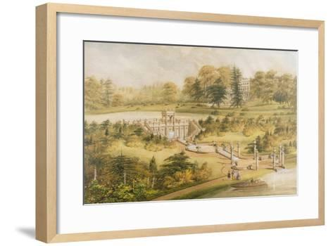Design for Cowley Manor, C.1860 (W/C, Pen and Ink on Paper)-George Somers Clarke-Framed Art Print