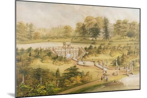Design for Cowley Manor, C.1860 (W/C, Pen and Ink on Paper)-George Somers Clarke-Mounted Giclee Print