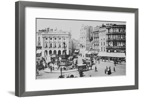 View of Piccadilly Circus, C. 1900 (B/W Photo)-English Photographer-Framed Art Print