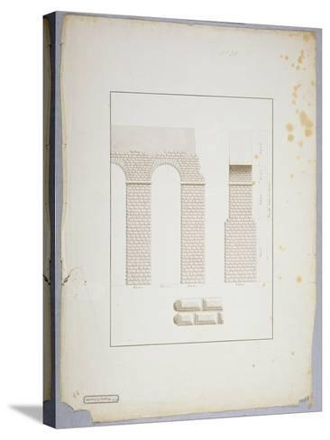 Aqueduct at Carthage (Pen and Ink with Wash on Paper)-James Bruce-Stretched Canvas Print