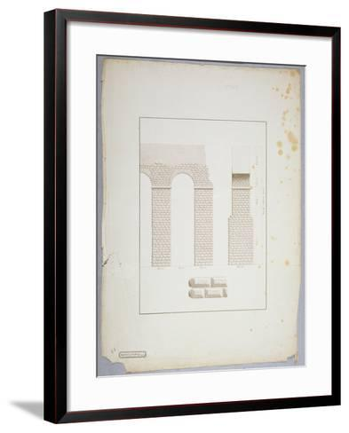 Aqueduct at Carthage (Pen and Ink with Wash on Paper)-James Bruce-Framed Art Print
