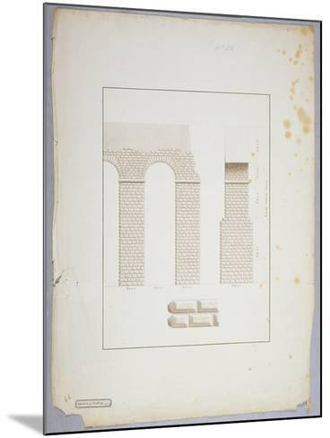 Aqueduct at Carthage (Pen and Ink with Wash on Paper)-James Bruce-Mounted Giclee Print
