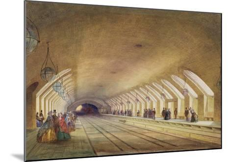 Baker Street Station, 1863 (W/C and Bodycolour with Pen and Ink on Paper)-Samuel John Hodson-Mounted Giclee Print