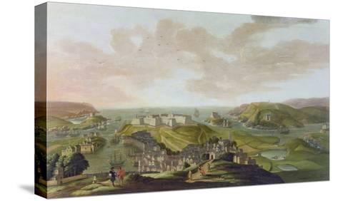 Plymouth, 1673-Hendrick Danckerts-Stretched Canvas Print