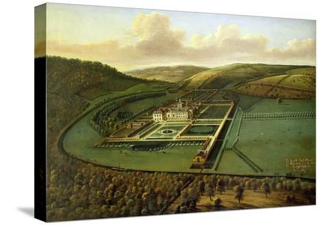 The Southeast Prospect of Hampton Court, Herefordshire, c.1699-Leonard Knyff-Stretched Canvas Print