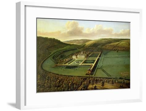 The Southeast Prospect of Hampton Court, Herefordshire, c.1699-Leonard Knyff-Framed Art Print