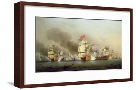Vice Admiral Sir George Anson's (1697-1762) Victory Off Cape Finisterre, 1749-Samuel Scott-Framed Art Print