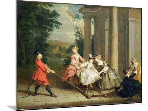 Children Playing with a Hobby Horse, c.1741-47-Joseph Francis Nollekens-Mounted Giclee Print