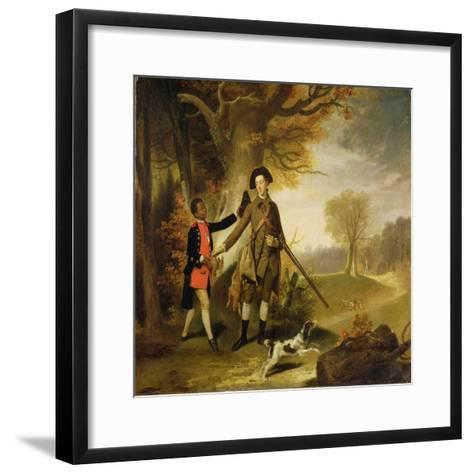 The Third Duke of Richmond (1735-1806) Out Shooting with His Servant, c.1765-Johann Zoffany-Framed Art Print