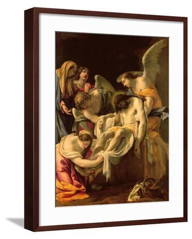 The Entombment (Oil on Panel)-Simon Vouet-Framed Art Print
