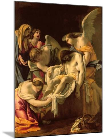 The Entombment (Oil on Panel)-Simon Vouet-Mounted Giclee Print