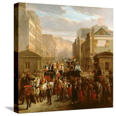 Descente De La Courtille', Belleville-Celestin Francois Nanteuil-Stretched Canvas Print