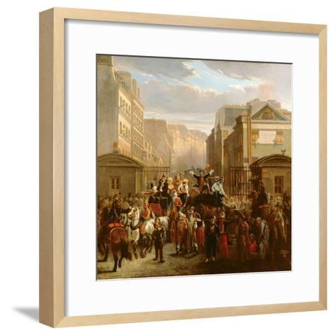 Descente De La Courtille', Belleville-Celestin Francois Nanteuil-Framed Art Print